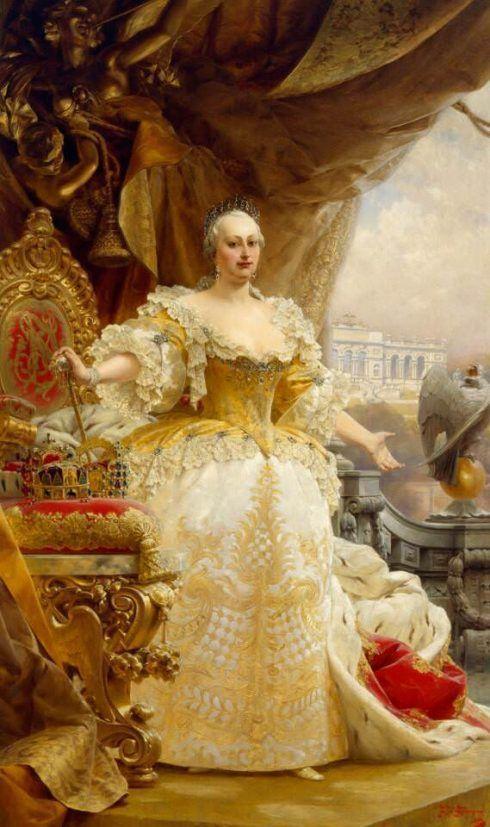 Alois Hans Schram, Maria Theresia im gelben Kleid, , Öl auf Leinwand, 283 x 174 cm (Wien, Bundesmobilienverwaltung, Inv.-Nr. MD 047442 © BMobV, Foto Tina Haller)
