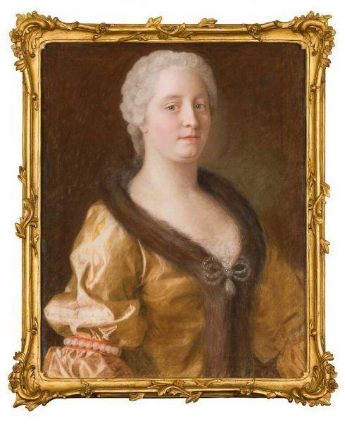 Jean-Étienne-Liotard, Maria Theresia im pelzverbrämten Kleid, 1743 (© Dauerleihgabe der Österreichische-Nationalbank, Foto: A. E. Koller für SKB)