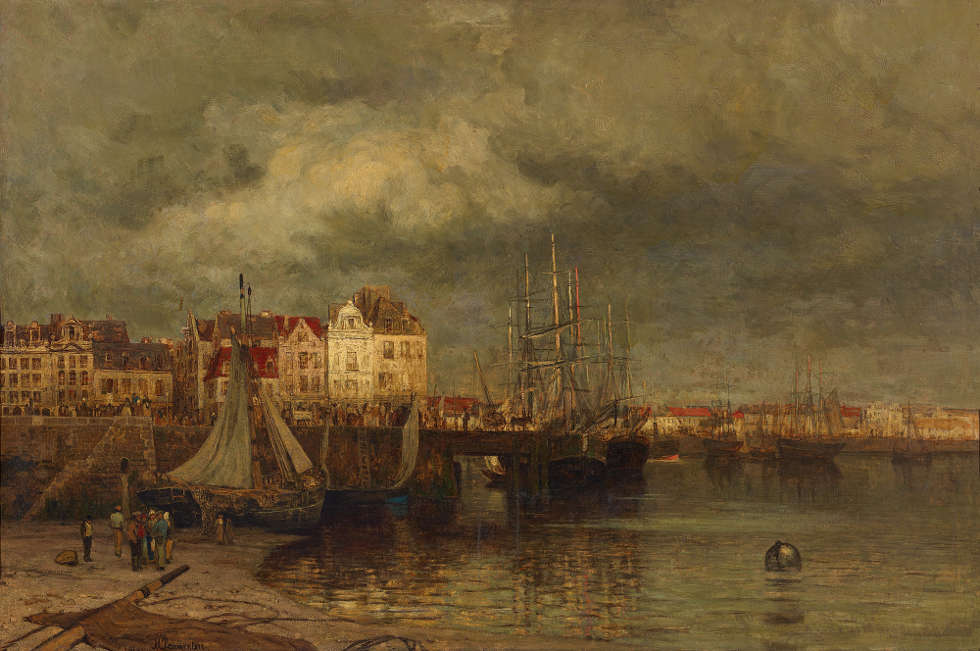 Maria von Parmentier, Der Hafen von Dieppe, vor 1878 (© Staatliche Museen zu Berlin, Nationalgalerie / Andres Kilger)