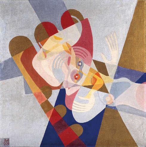Marianne (My) Ullmann, Bescheiden, 1925, Tempera auf Leinwand, 60 x 60 cm (Universität für angewandte Kunst Wien, Kunstsammlung und Archiv © Nachlass Marianne (My) Ullmann)