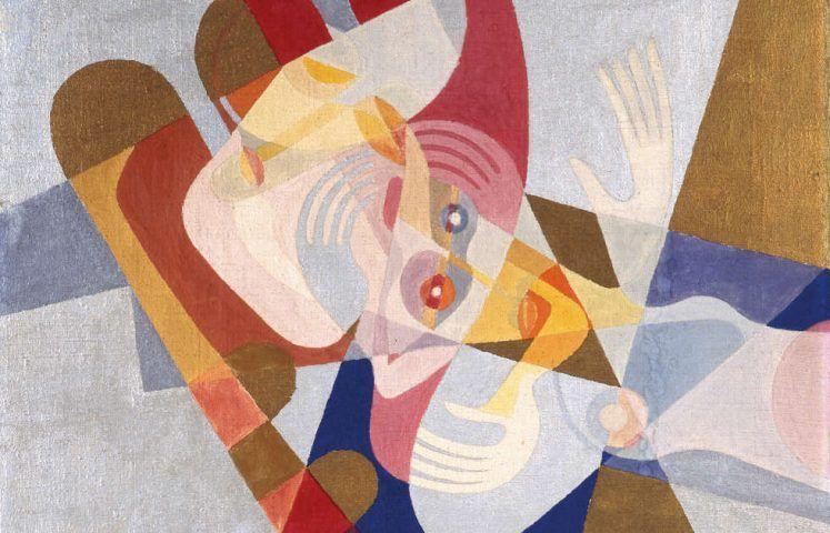 Marianne (My) Ullmann, Bescheiden, Detail, 1925, Tempera auf Leinwand, 60 x 60 cm (Universität für angewandte Kunst Wien, Kunstsammlung und Archiv © Nachlass Marianne (My) Ullmann)