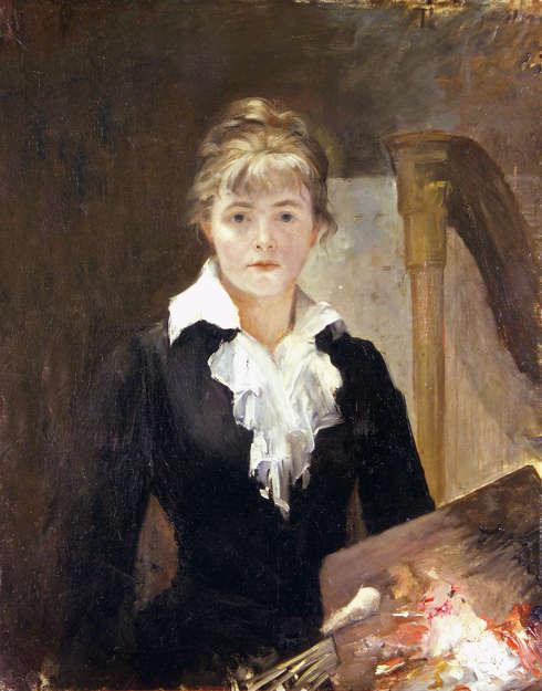 Marie Bashkirtseff, Selbstporträt mit Palette, um 1883, Öl auf Leinwand, 92 × 73 cm (Musée des Beaux-Arts Jules Chéret – Ville de Nice)