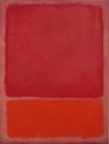 Mark Rothko, Ohne Titel (Rot, Orange), 1968, Öl/Lw, 193 × 175 cm (Fondation Beyeler, Riehen/Basel, Sammlung Beyeler, Foto: Robert Bayer)
