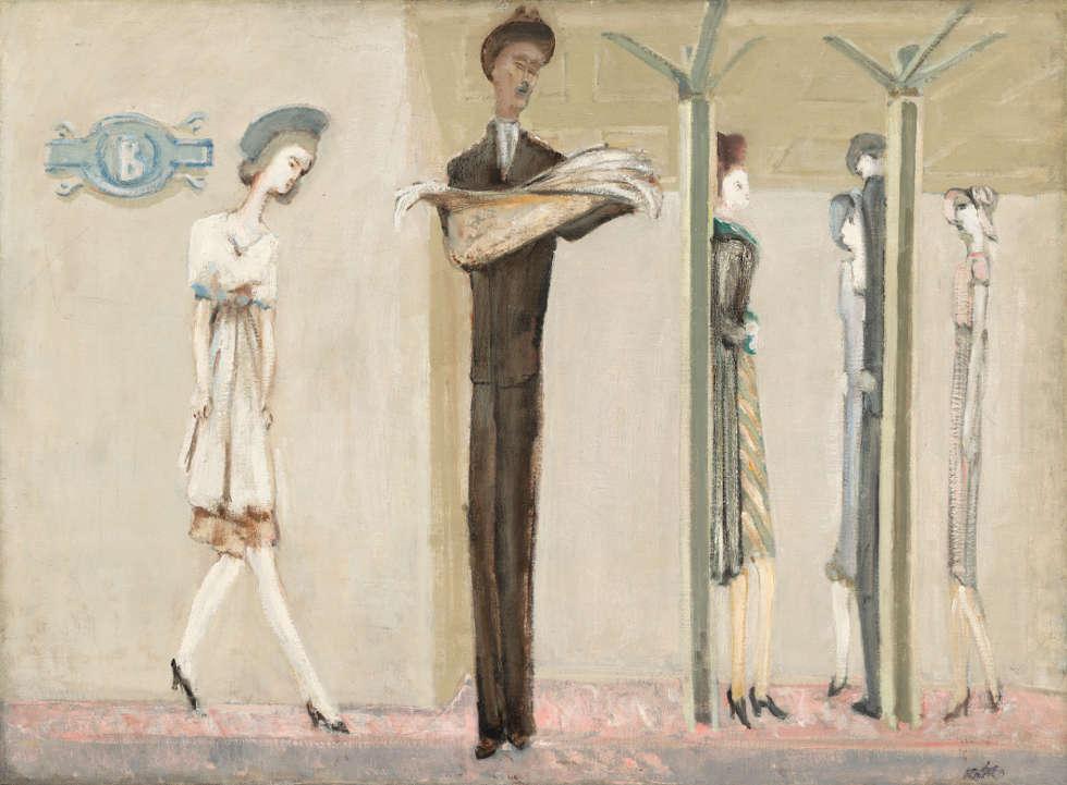 Mark Rothko, Underground Fantasy, um 1940, Öl auf Leinwand, 87,3 × 118,2 cm (© 1998 Kate Rothko Prizel & Christopher Rothko/Bildrecht, Wien, 2019, © Foto: National Gallery of Art, Washington, D.C.)