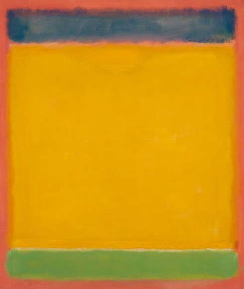 Mark Rothko, Untitled (Blue, Yellow, Green on Red), 1954