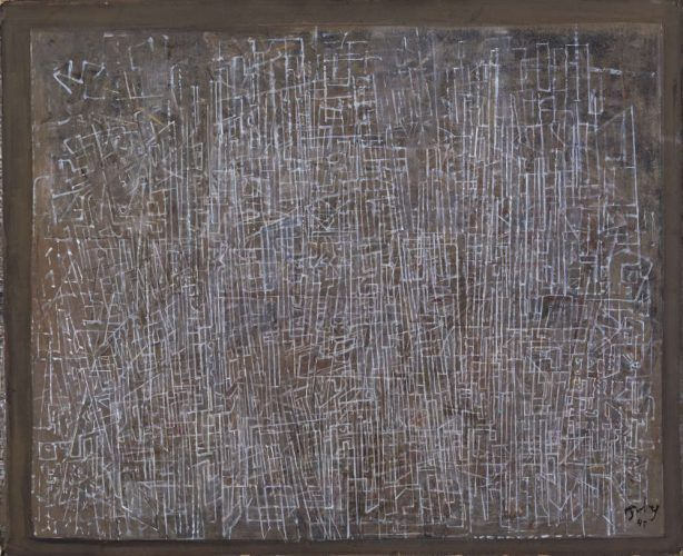 Mark Tobey, Lines of the City, 1945