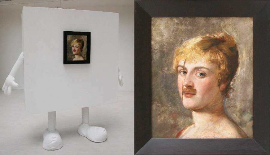 Markus Schinwald, Emma, 2009, Holz, Gips, Öl auf Leinwand (Ankauf Bank Austria Kunstsammlung 2009)
