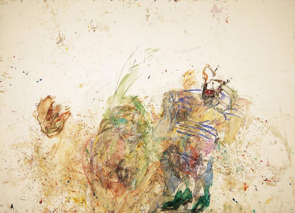 Martha Jungwirth, Ohne Titel, 1982, Aquarell auf Papier, 216 x 300 cm (Foto: Photoatelier Laut, Wien © Albertina, Wien: Sammlung Essl)