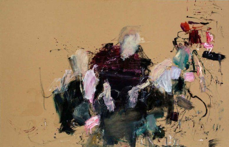 Martha Jungwirth, Ohne Titel (aus der Serie: Regentinnen des Altmännerwohnheims, Frans Hals, 1664), 2014 (Albertina, Wien, Erwerbung aus Mitteln der Galerienförderung des BKA 2015 © Bildrecht, Wien, 2017)