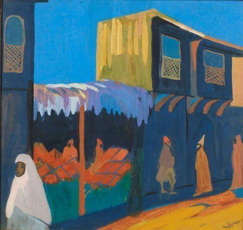 Martiros Sarjan, La Rue. Konstantinopel, 1910, Öl/Lw, 60.2 × 63.8 cm, Sammlung. Ivan Morosow, 1911 (Staatliche Tretjakow Galerie, Moskau © Succession Martiros Sarjan)