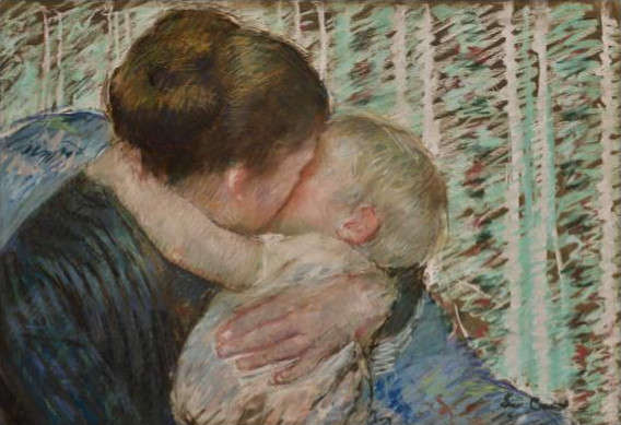 Mary Cassatt, A Goodnight Hug, 1880, Pastell, 42 x 62.8 cm (Privatsammlung)