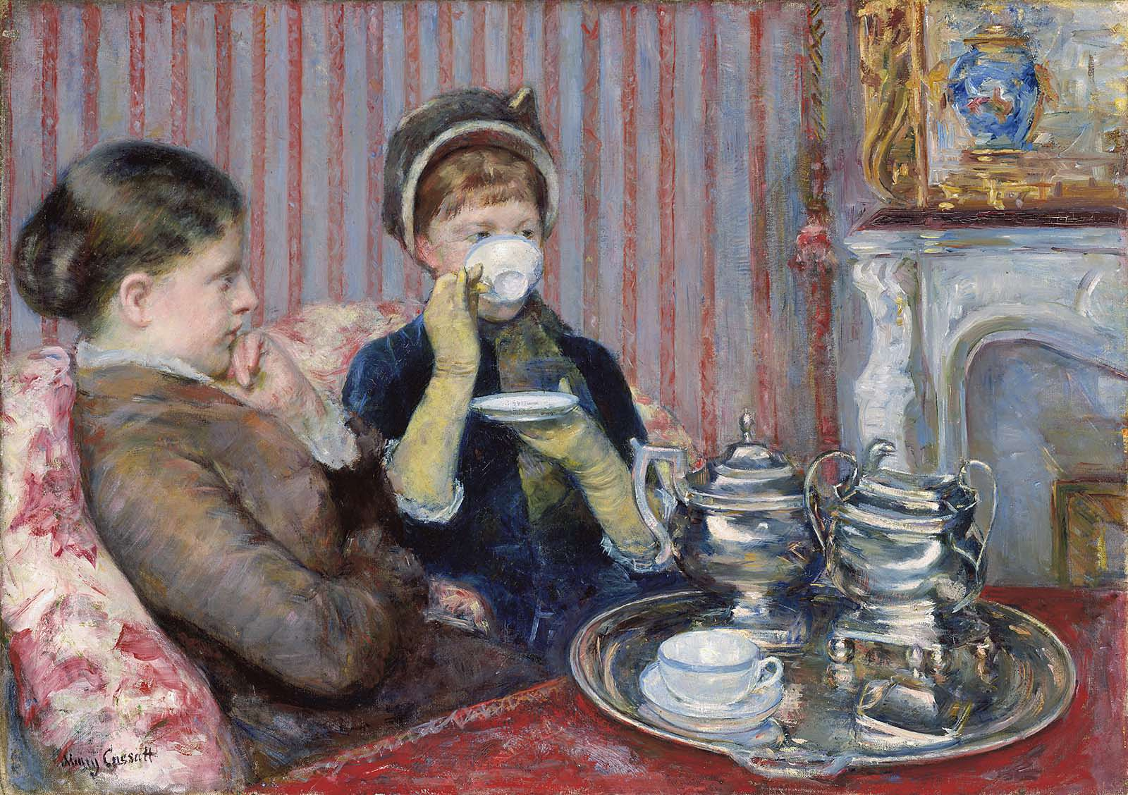 Mary Cassatt, Le thé [Der Tee], um 1880, Öl auf Leinwand, 64.77 x 92.07 cm (Museum of Fine Arts, Boston, M. Theresa B. Hopkins Fund)