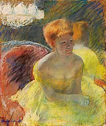 Mary Cassatt, Au théâtre [Im Theater], um 1879, Pastell auf Papier, 55.45 x 46.05 cm (Nelson-Atkins Museum of Art, Anonymus Gift)