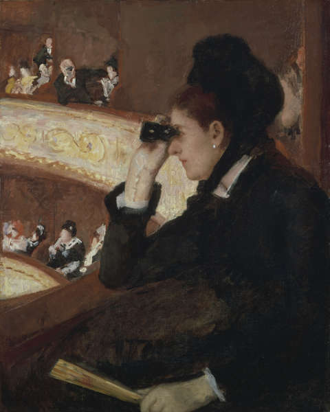 Mary Cassatt, In der Loge, 1878, Öl/Lw (Museum of Fine Arts, Boston, 10.35, photo © 2018 Museum of Fine Arts, Boston)