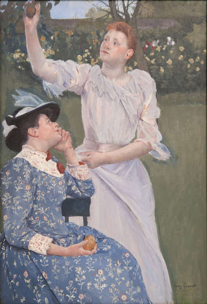 Mary Cassatt, Junge Frauen pflücken Obst, 1891, Öl/Lw (Carnegie Museum of Art, Pittsburgh; Patrons Art Fund, 22.8 © Carnegie Museum of Art, Pittsburgh; Patrons Art Fund)