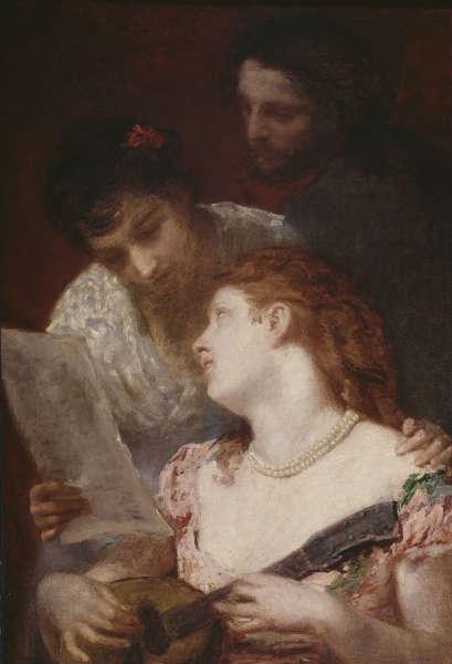 Mary Cassatt, Musik, 1874, Öl/Lw (Paris, Petit Palais, Musée des Beaux-Arts de la Ville de Paris, PPP3737, photo © RMN-Grand Palais / Agence Bulloz)