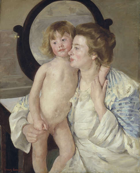 Mary Cassatt, Mutter und Kind (Der ovale Spiegel), 1899, Öl/Lw (lend of The Metropolitan Museum of Art, collection H.O Havemeyer, donation of Mrs. H.O Havemeyer, 29.100.47, 1929, photo © The Metropolitan Museum of Art, Dist. RMN-Grand Palais / image of the MMA)