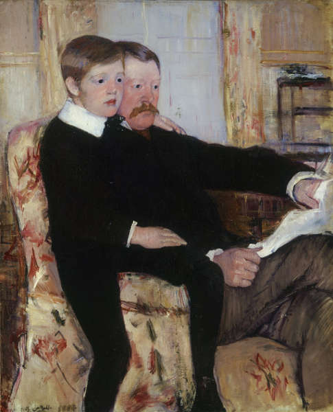 Mary Cassatt, Porträt Alexander J. Cassatt und sein Sohn, Robert Kelso Cassatt, 1884, Öl/Lw, (Courtesy of the Philadelphia Museum of Art © Philadelphia Museum of Art: Purchased with the W. P. Wilstach Fund and with funds contributed by Mrs. William Coxe Wright, 1959 2, W1959-1-1)