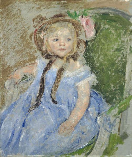 Mary Cassatt, Sara in a Dark Bonnet with Right Hand on Arm of Chair [Sara mit einem dunklen Häubchen], 1901, Öl auf Leinwand (Wallraf-Richartz-Museum & Fondation Corboud, Köln, Foto: RBA Köln)
