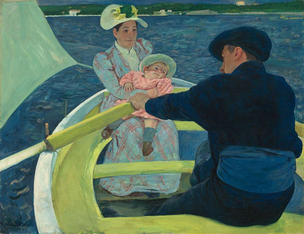 Mary Cassatt, The Boating Party [Das Bootfahren], 1893/1894, Öl/Lw, 90 x 117.3 cm (Chester Dale Collection, 1963.10.94, National Gallery of Art, Washington)