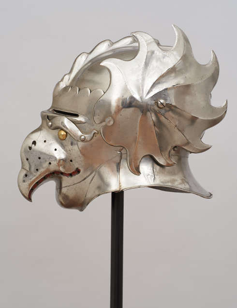 Maskenhelm für Markgraf Albrecht von Brandenburg-Ansbach (1490–1568), Niederdeutsch um 1526 (Kunsthistorisches Museum, Hofjagd- und Rüstkammer © KHM-Museumsverband)