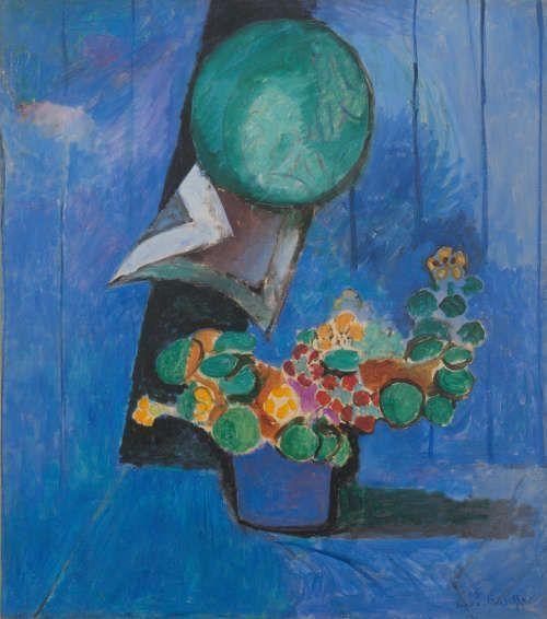 Henri Matisse, Blumen und Keramik, 1913, Öl/Lw, 93.5 x 82.5 cm (Städel Museum, Frankfurt am Main © Succession H. Matisse / VG Bild-Kunst, Bonn)