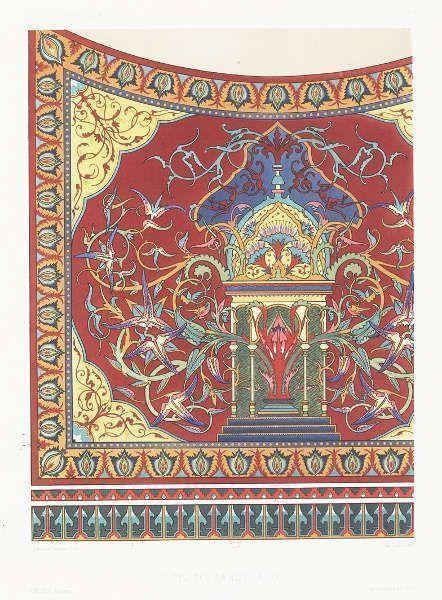 Maurice Ouradou, Eugène-Emmanuel Viollet-le-Duc, Wandmalerei, aus: Peintures murales des chapelles de Notre-Dame de Paris, 1870 (Bibliothèque nationale de France)