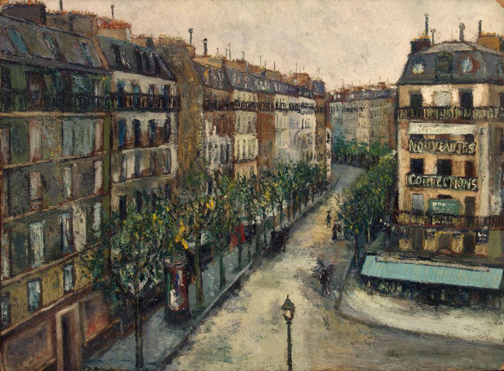 Maurice Utrillo, Rue Custine a Monmartre, 1909-1910, Tempera auf Karton, 51,0x73,0 cm (Eremitage, St. Petersdburg)