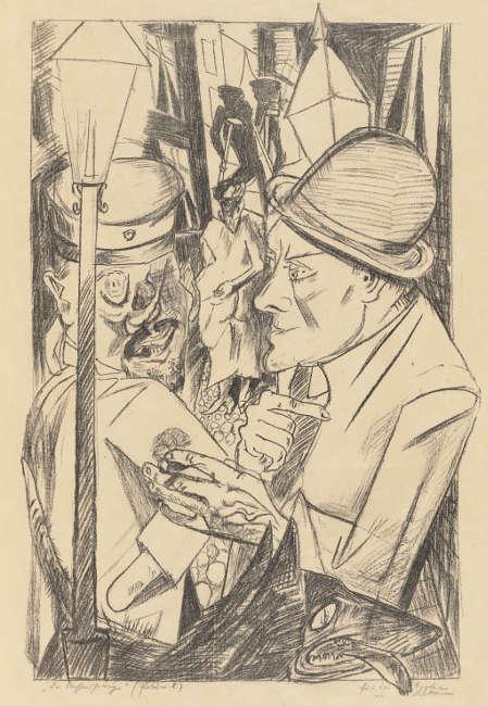 Max Beckmann, Der Nachhauseweg, aus: Die Hölle, 1919, Lithografie, 733 × 488 mm (Städel Museum, Frankfurt am Main, Foto: Städel Museum)