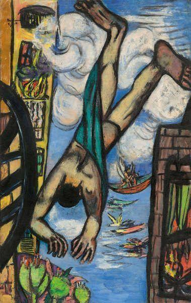 Max Beckmann, Fallender Mann, 1950, Öl/Lw, 141 x 88,9 cm (National Gallery of Art, Washington, Gift of Mrs. Max Beckmann)