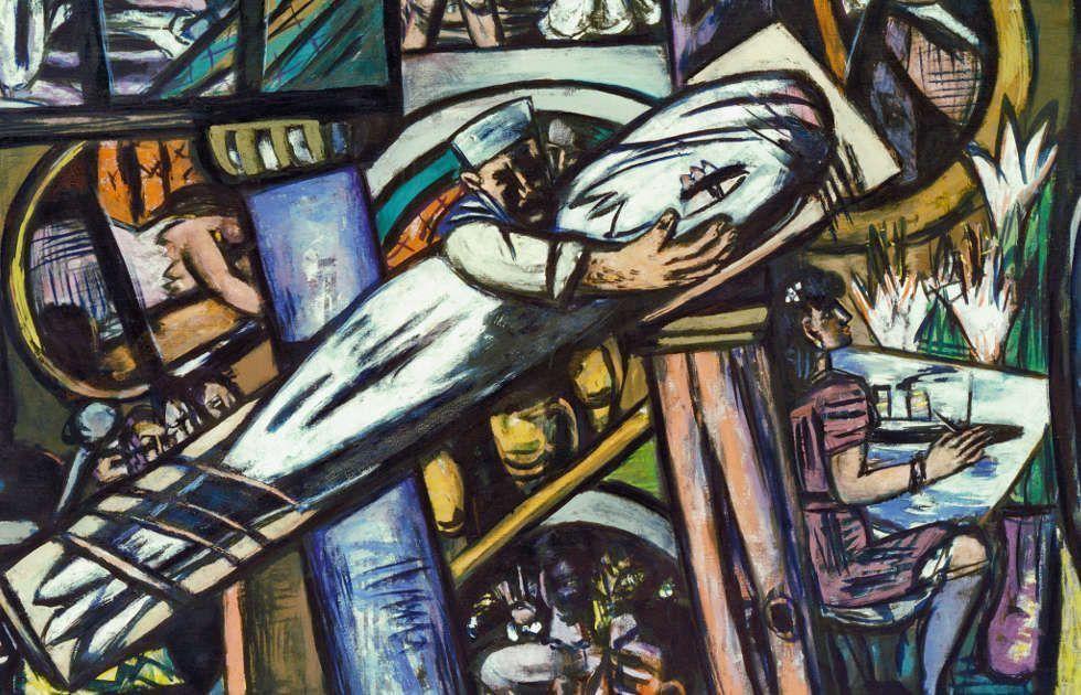 Thurston Ayer Fund) Max Beckmann, Cabins [Kajüten], Detail, 1948, Öl/Lw, 139,5 x 190 cm (Kunstsammlung Nordrhein-Westfalen, Düsseldorf)