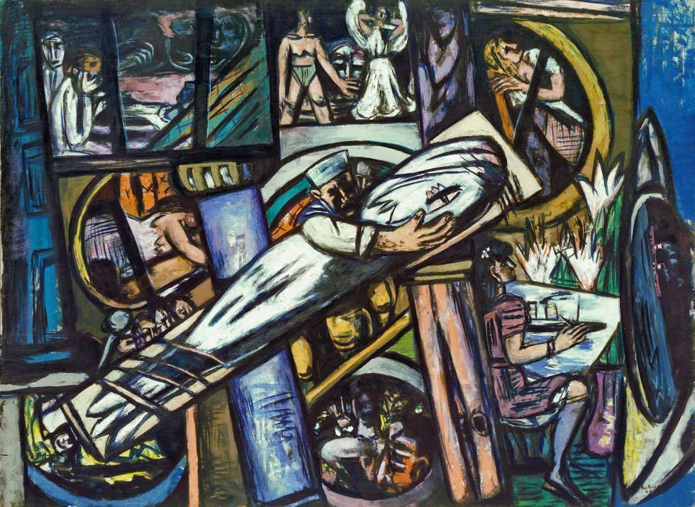 Max Beckmann, Cabins [Kajüten], 1948, Öl/Lw, 139,5 x 190 cm (Kunstsammlung Nordrhein-Westfalen, Düsseldorf)