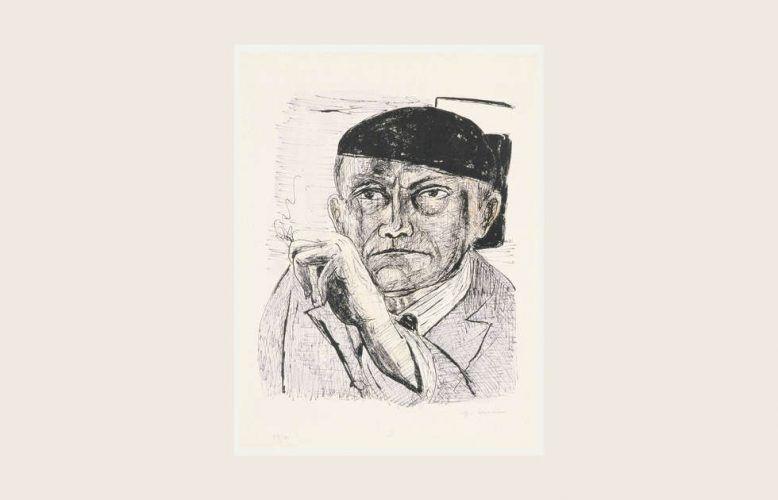 Max Beckmann, Selbstbildnis, Blatt 1 aus ́Day and Dream ́, 1946, Lithografie (Privatbesitz Deutschland, Foto: Alistair Overbruck, Köln © VG Bild-Kunst, Bonn 2020)