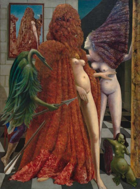 Max Ernst: Die Einkleidung der Braut, 1940 (Peggy Guggenheim Collection, Venedig (Solomon R. Guggenheim Foundation, New York), 76.2553 PG 78, Foto: David Heald © Solomon R. Guggenheim Foundation, New York / VG Bild-Kunst, Bonn 2020)