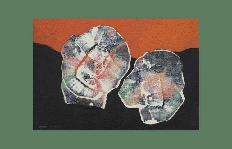 Max Ernst, Quelques fleurs, Detail, 1927, Öl auf Leinwand, 22,3 x 27,5 cm (Kunstmuseum Bonn, Leihgabe der Professor Dr. med. Wilfried und Gisela Fitting Stiftung)