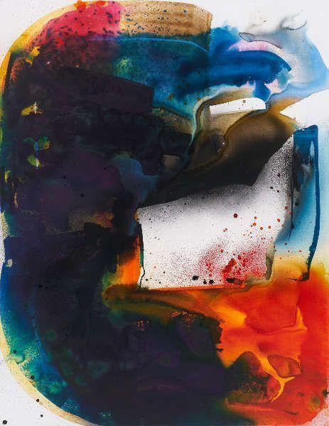 Max Frintrop, Ohne Titel, (Aphex Twin), 2019, Tusche, Acryl, Pigmente/Lw, 220 x 170 cm (Courtesy der Künstler und Berthold Pott Galerie, Foto: Ben Hermanni)