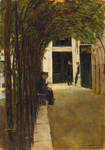 Max Liebermann, Altmännerhaus in Amsterdam, 1880, Öl/Lw, 87,5 x 61,4 cm (Staatsgalerie Stuttgart)