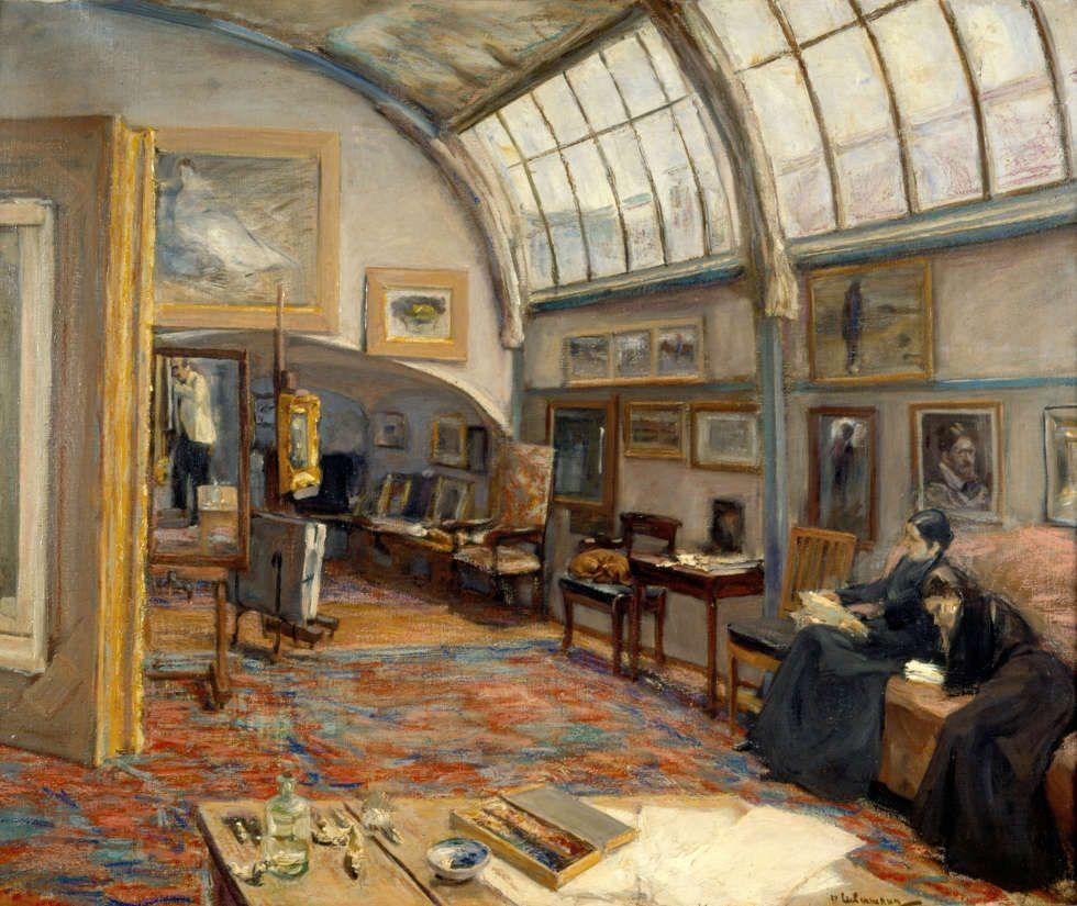 Max Liebermann, Atelier des Künstlers, 1902, Öl/Lw, 68,5 x 82 cm (Kunstmuseum St. Gallen)