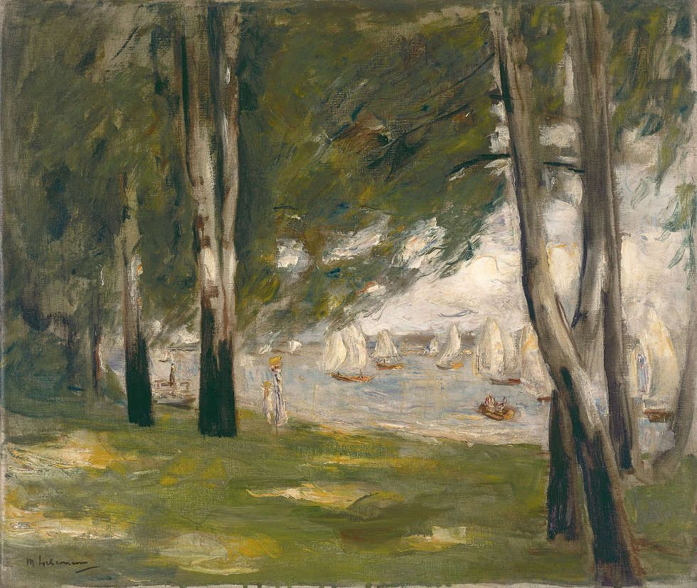 Max Liebermann, Birken am Wannseeufer nach Ost, 1924, Öl/Lw, 50 x 60 cm (Museum Wiesbaden)