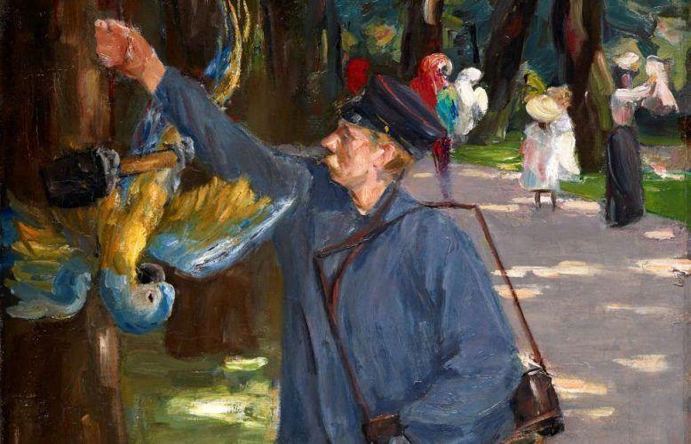 Max Liebermann, Der Papageienmann, Detail, 1902 (Museum Folkwang, Essen)
