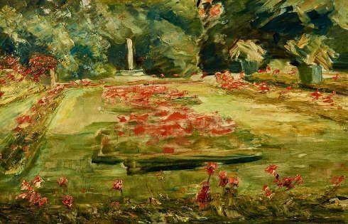Max Liebermann, Die Blumenterrasse im Wannseegarten, 1923, Öl auf Leinwand (Privatbesitz)