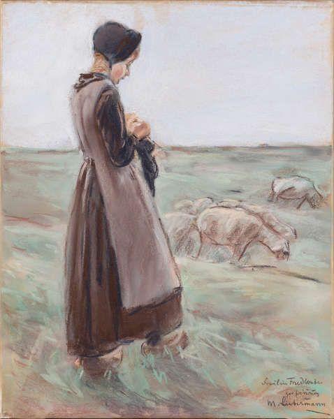 Max Liebermann, Mädchen, 56,5 x 48,2 cm (Gemeentemuseum, Den Haag)