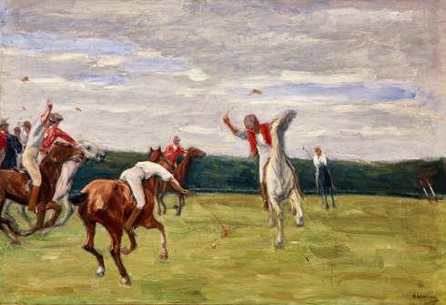 Max Liebermann, Polospieler in Jenischs Park, 1903 (Privatsammlung)