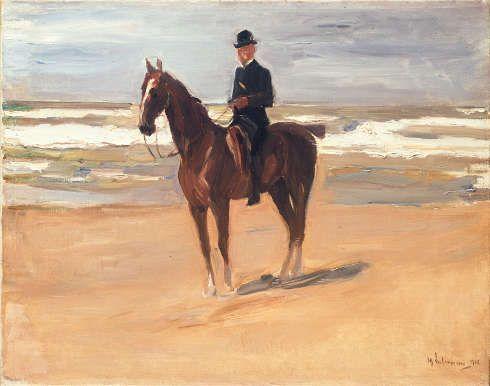 Max Liebermann, Reiter am Strand, 1908, Öl/Lw, 71 x 89 cm (Museumlandschaft Hessen Kassel)