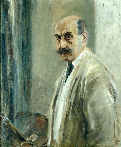 Max Liebermann, Selbstbildnis mit Pinsel, 1913, Öl auf Leinwand (Kunstpalast Düsseldorf, Horst Kolberg)