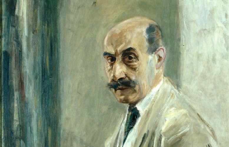 Max Liebermann, Selbstbildnis mit Pinsel, Detail, 1913, Öl auf Leinwand (Kunstpalast Düsseldorf, Horst Kolberg)