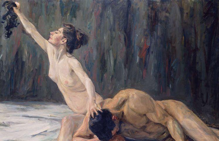 Max Liebermann, Simson und Delila, Detail, 1902, Öl/Lw, 151,2 x 212 cm (Städel Museum, Frankfurt am Main)