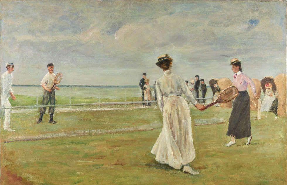 Max Liebermann, Tennisspieler am Meer (1.Version), 1901, Öl/Lw, 69,5 x 100 cm (Museum der Westküste)