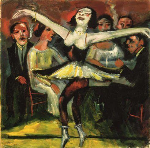 Max Pechstein, Tänzerin in einer Bar, 1923/31, Öl auf Leinwand, 90 x 90,5 cm (Privatbesitz © 2019 Pechstein – Hamburg/Tökendorf)