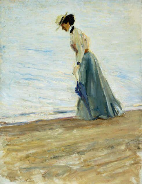 Max Slevogt, Dame am Meer, 1900, Öl/Lw (Kurpfälzisches Museum der Stadt Heidelberg © Kurpfälzisches Museum der Stadt Heidelberg)